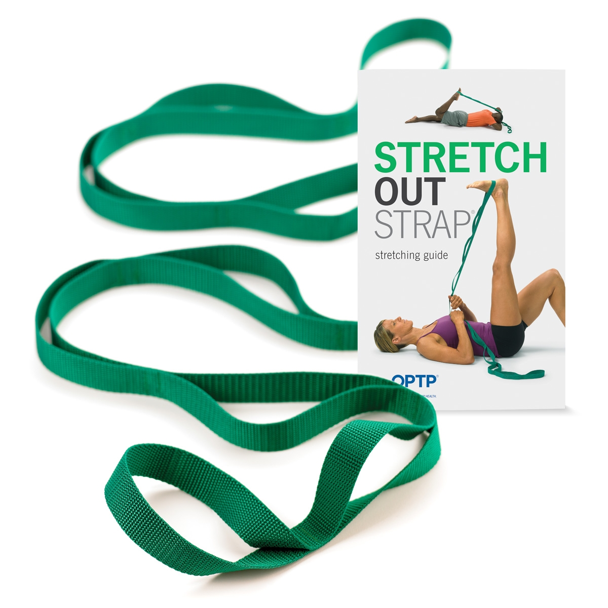 Stretch-Out® Strap  with instruction book (green)