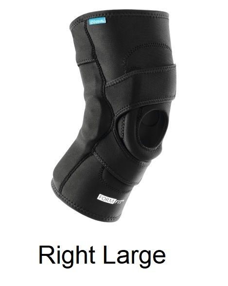 Ossur FormFit Knee Hinged Lateral J Brace - Right Large (21-23.5