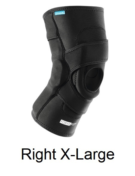 Ossur FormFit Knee Hinged Lateral J Brace - Right X-Large (thigh 23.5-26.5