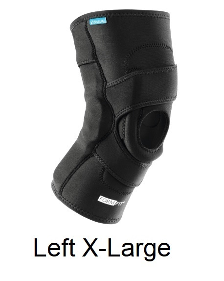 Ossur FormFit Knee Hinged Lateral J Brace - Left X-Large (thigh 23.5-26.5