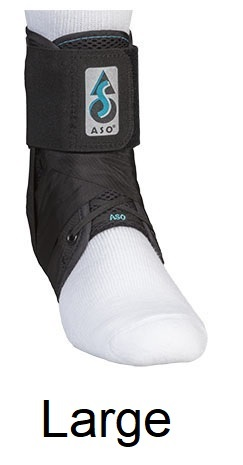 ASO Ankle Stabilizing Orthosis (fits left or right) Black, LARGE (13