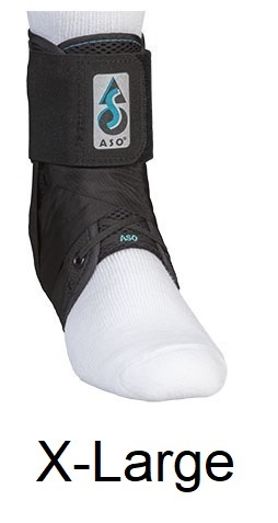 ASO Ankle Stabilizing Orthosis (fits left or right) Black, X-LARGE (14