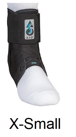 ASO Ankle Stabilizing Orthosis (fits left or right) Black X-SMALL (10