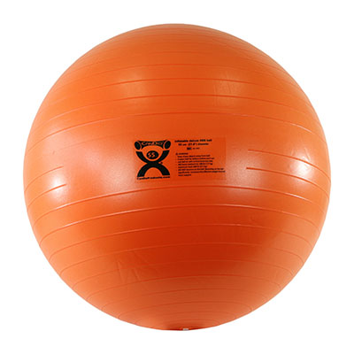 CanDo® Inflatable Exercise Ball - ABS Extra Thick - Orange - 22