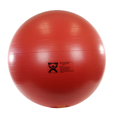 CanDo® Inflatable Exercise Ball - ABS Extra Thick - Red - 30