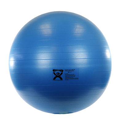 CanDo® Inflatable Exercise Ball - ABS Extra Thick - Blue - 34