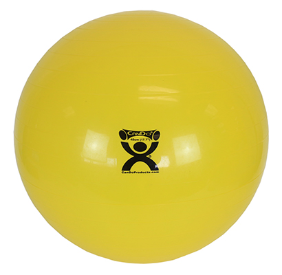 CanDo Inflatable Exercise Ball, 45cm (Yellow) - 300 lb capacity