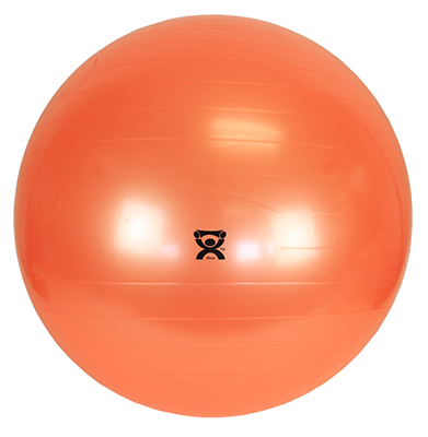 CanDo Inflatable Exercise Ball, 55cm (Orange) - 300 lb capacity