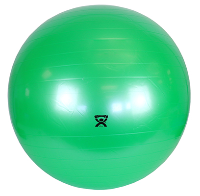 CanDo Inflatable Exercise Ball, 65cm (Green) - 300 lb capacity