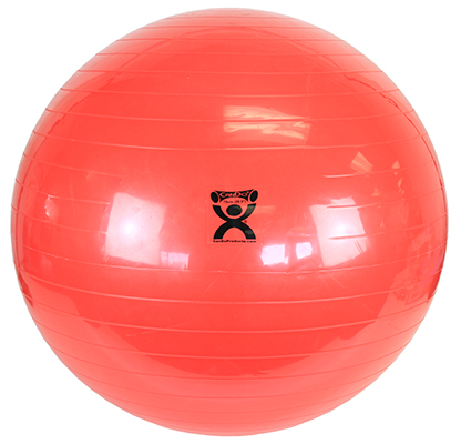 CanDo Inflatable Exercise Ball, 75cm (Red) - 300 lb capacity