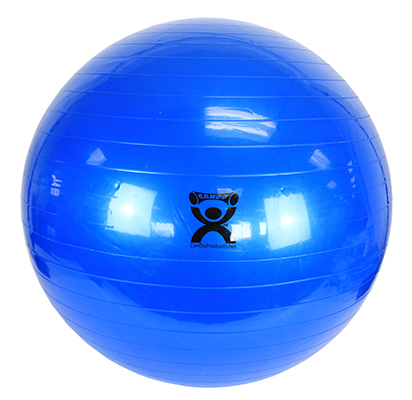 CanDo Inflatable Exercise Ball, 85cm (Blue) - 300 lb capacity