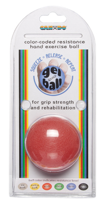 Cando® Gel Ball Hand Exerciser - Light - Red