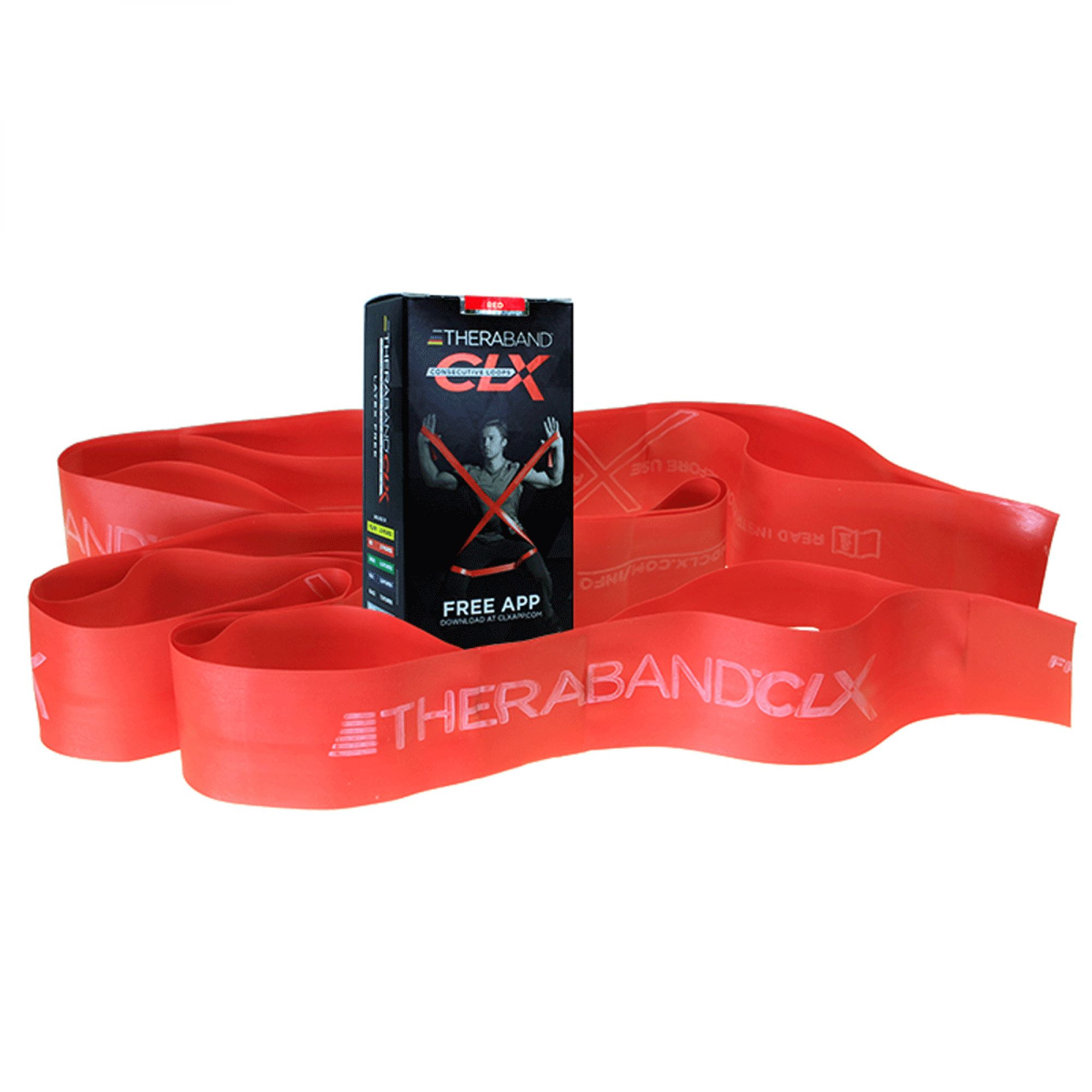 Thera-Band® CLX Consecutive Loops - Individual 5' Pre-Cut Band - Red