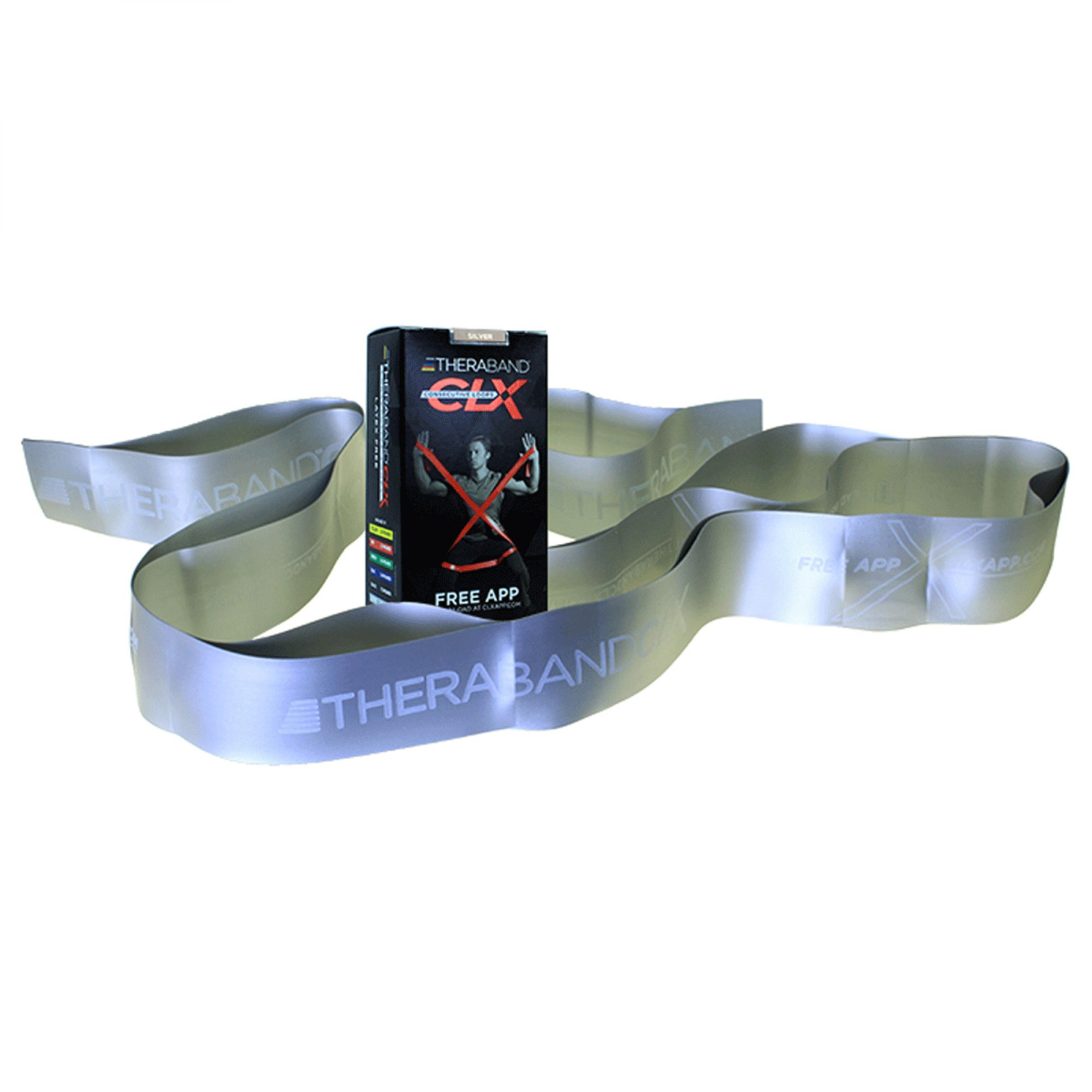 Thera-Band® CLX Consecutive Loops - Individual 5' Pre-Cut Band - Silver