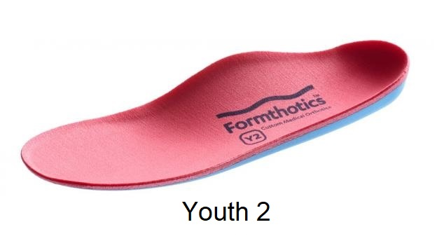 Formthotics Medical Original Dual Medium - Y2 - (Red/Blue) - Youth Size 2 - 3.5