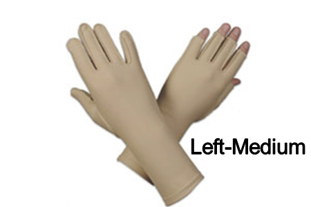 Edema Glove, 3/4 finger, over wrist, Left, medium - 8