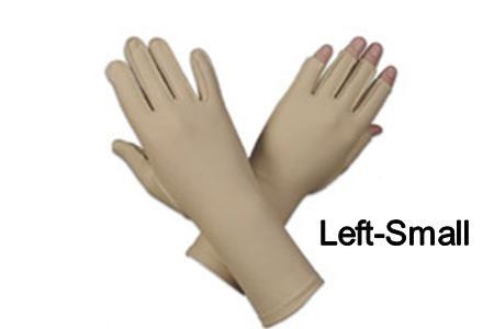 Edema glove, 3/4 finger, over wrist, Left, small - 7