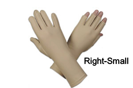 Edema glove, 3/4 finger, over wrist, Right, small - 7