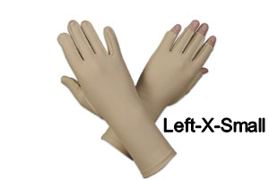 Edema glove, full finger, over wrist, Left, x-small - 6