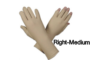 Edema glove, full finger, over wrist, Right, medium - 8