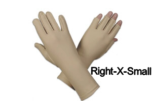 Edema glove, full finger, over wrist, Right, x-small - 6