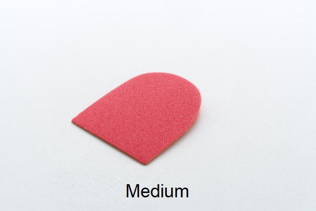 Formthotics 4mm Self-Adhesive Heel Raise (Red) - Medium - Pkg of 5 pair