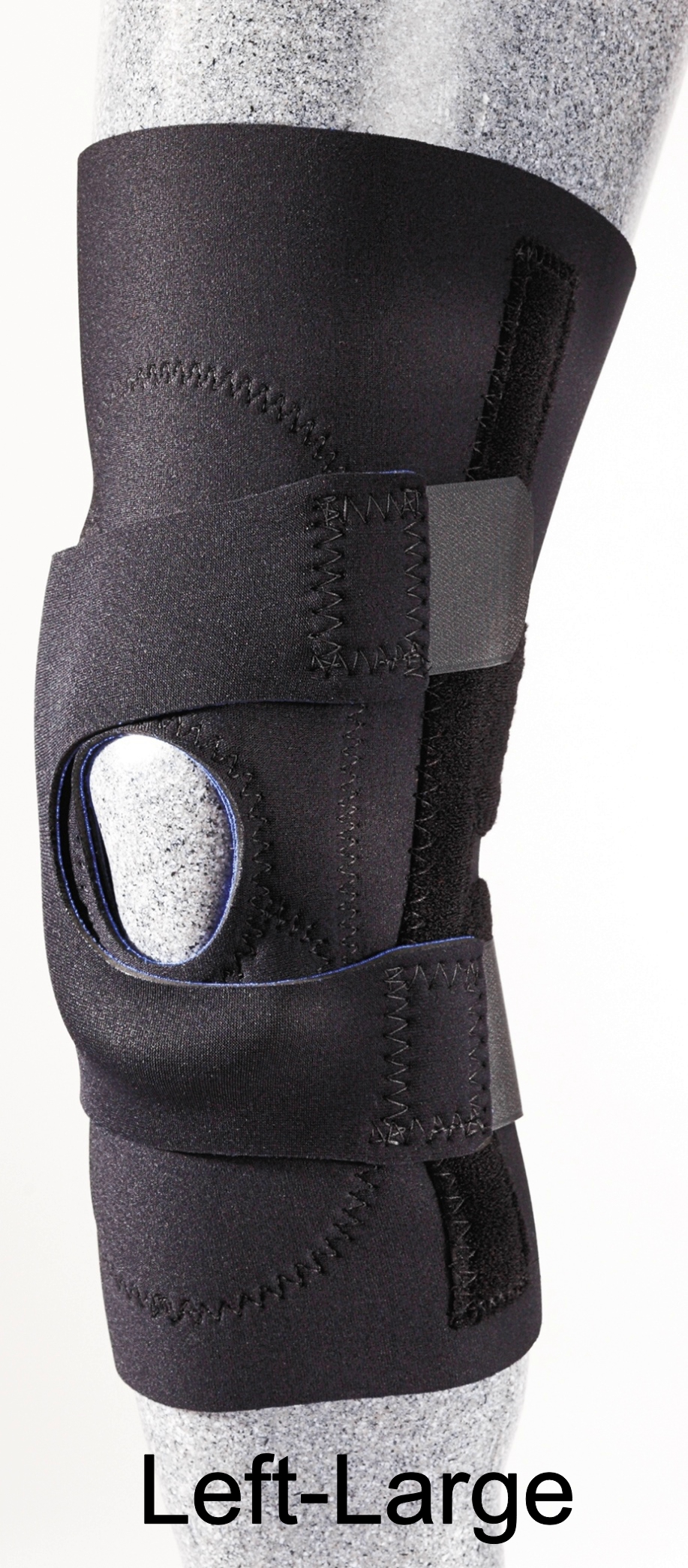 Patellar Stabilizer (J-Brace) with Pull Straps - Left - Large - (15