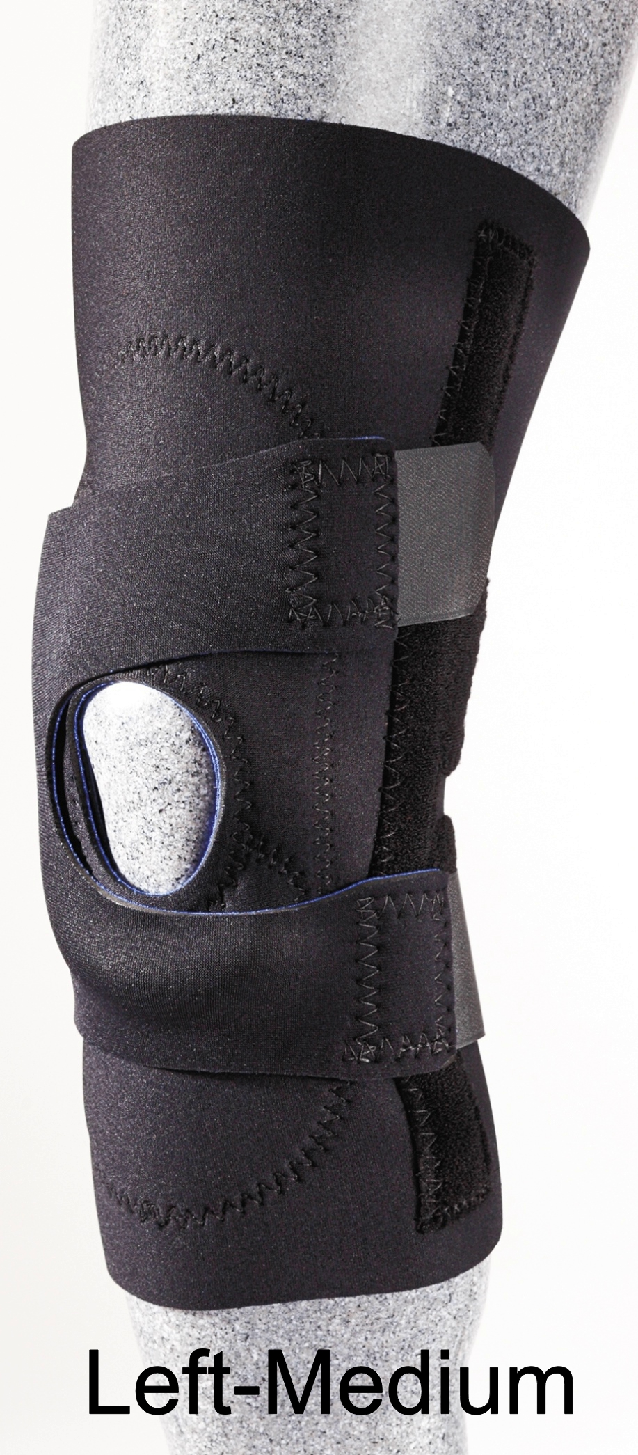 Patellar Stabilizer (J-Brace) with Pull Straps - Left - Medium - (14