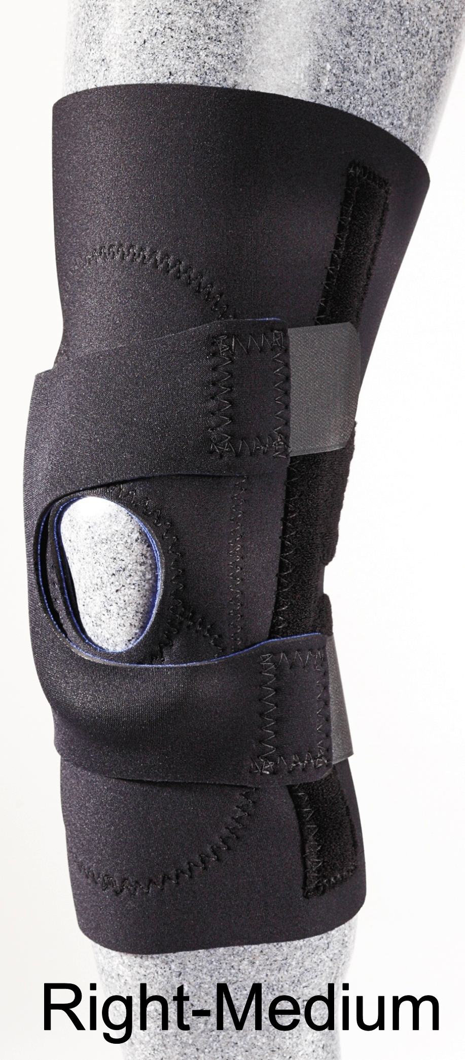 Patellar Stabilizer (J-Brace) with Pull Straps - Right - Medium - (14
