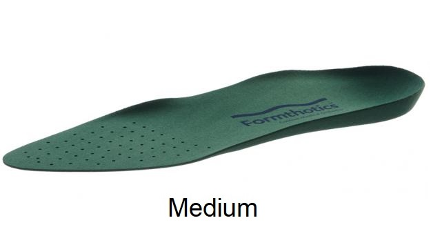 Formthotics Medical Low Volume Single Medium - Perforated (Green) - Medium - Men's 8 - 9, Women's 9.5 - 10.5