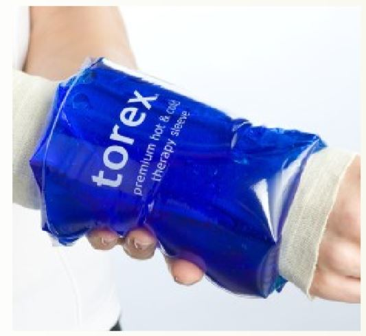 torex ® Small Sleeve Cold Pack (For Hand, Wrist, Arm or Elbow) - For Limb Circumference between 3
